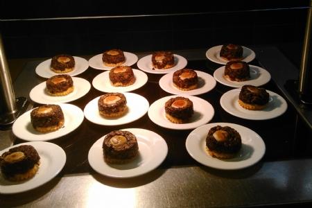 AGRAF : restaurant le Montaigne tatin de champignons boudin blanc aux cepes